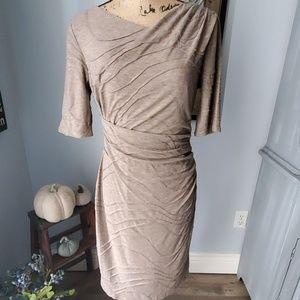 Dressbarn rouched dress size 6 petite
